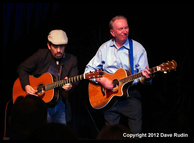 Al Stewart (right) with Dave Nachmanoff