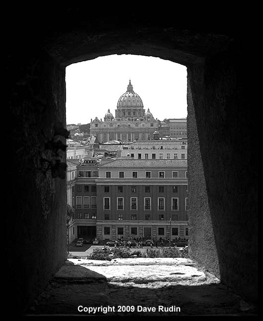 View toward the Vatican from Castel Sant'angelo, 2009