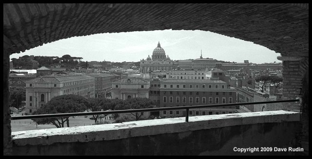 Panoramic view from Castel Sant'angelo, 2009