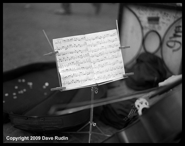 Playing Bach, Rome, 2009