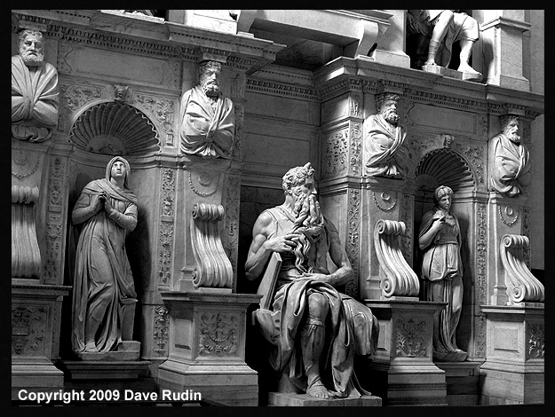 Moses by Michelangelo, 2009