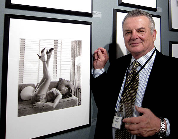 Burt Finger of PDNB Gallery with Bettie Page