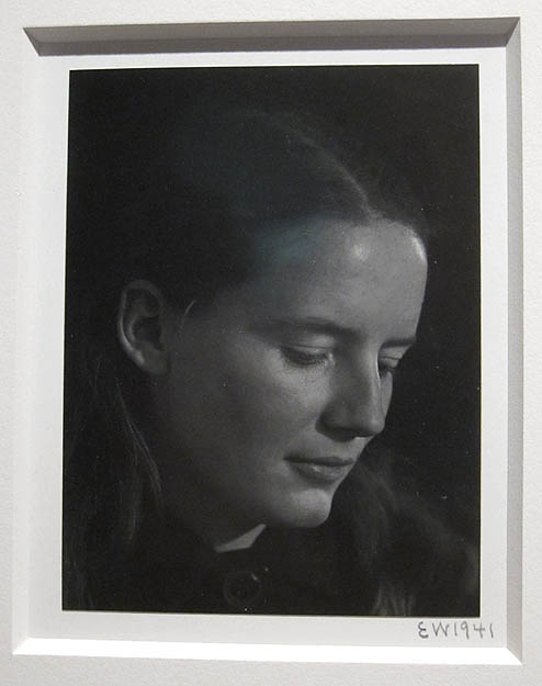 Edward Weston's portrait of Charis at the Weston Gallery