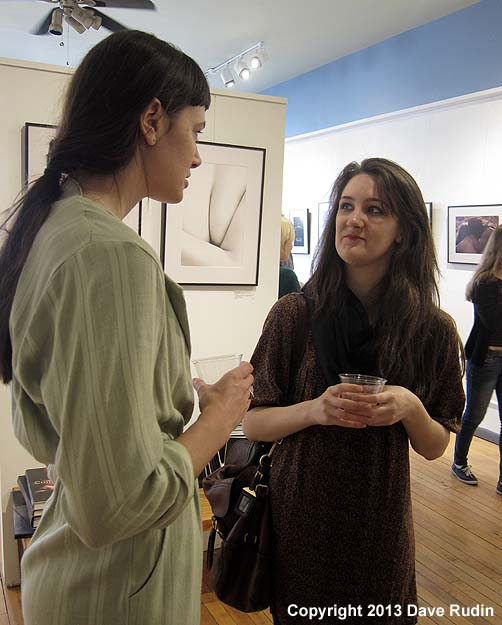 Erica (right) with gallery assistant Damaris