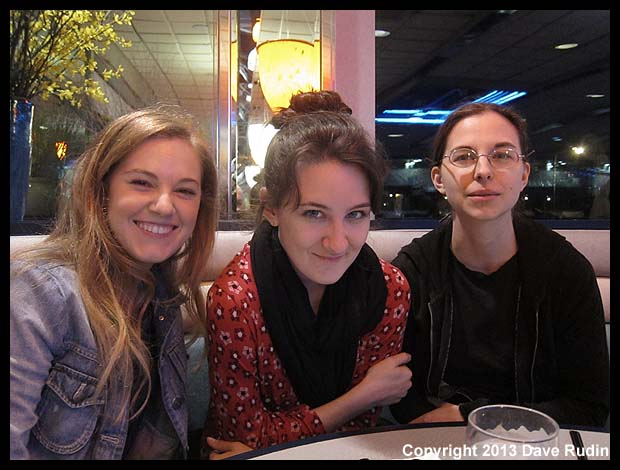 Dane, Erica and Aubrey at dinner