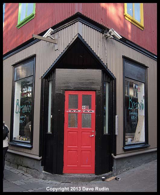 Red door, Reykjavik