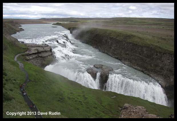 """Gullfoss, the """"golden waterfall"""""""