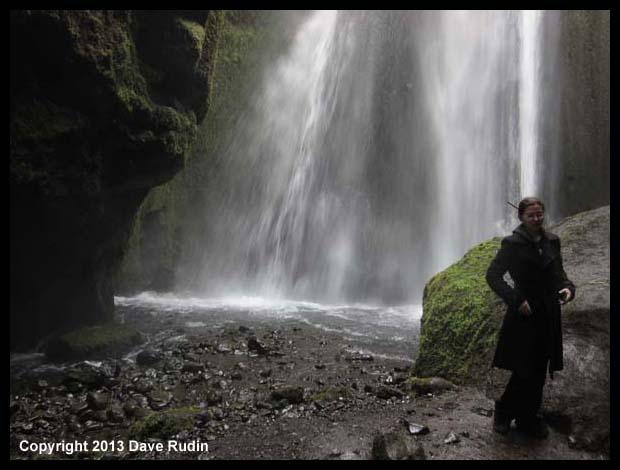 "Aubrey at Glufrabui, the ""hidden"" waterfall"