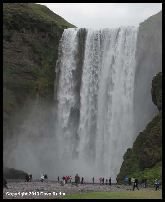 Skogafoss, the waterfall at Skogar