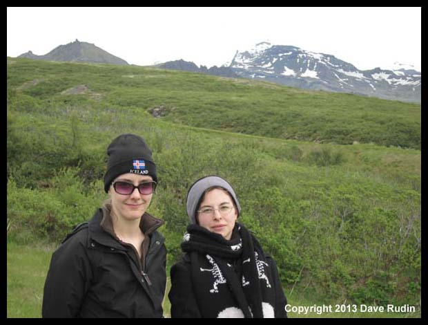 Brooke and Aubrey in Skaftafell National Park