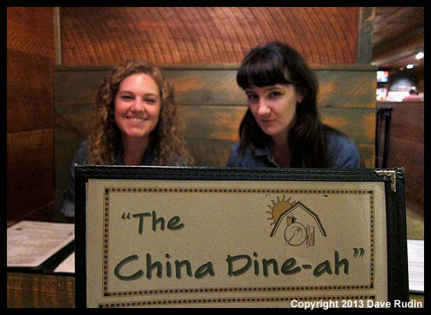 Dinner at the China Dine-ah in Maine