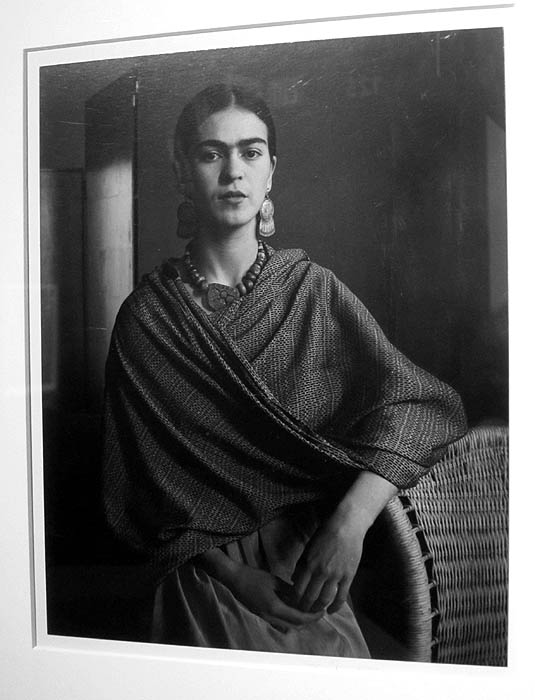 A portrait of Frida Kaho by Imogen Cunningham at Throckmorton Fine Art
