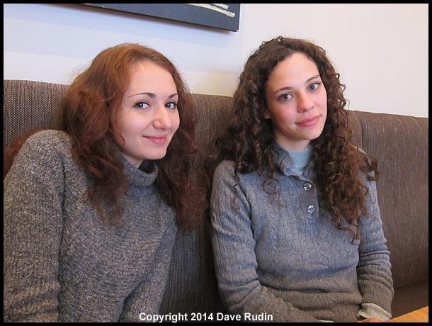 Zoe and Nadine in Reykjavik