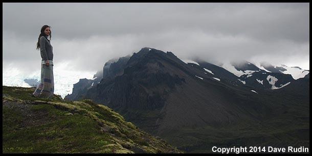 Nadine at Kviarjokull glacier