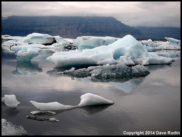 The famous Jökulsárlón glacier lagoon
