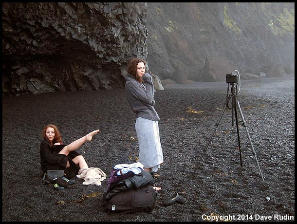 Waiting for people to leave so we could photograph on the Reynisfjara beach near Vik
