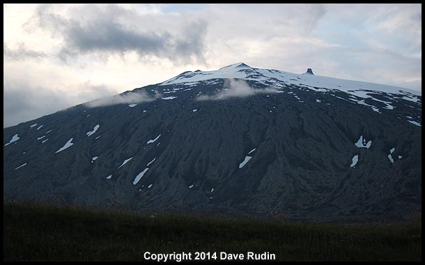 Snæfellsjökull, where (according to Jules Verne) men journeyed to the center of the earth