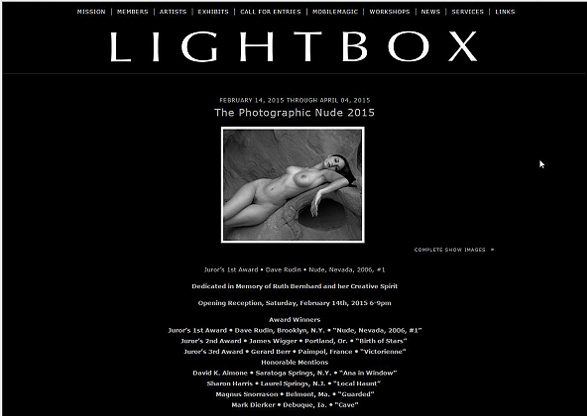 LightBox 02 - Photographic Nude 2015