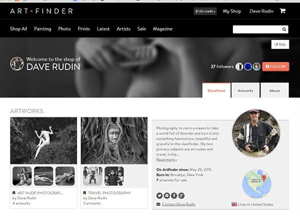 Artfinder webpage