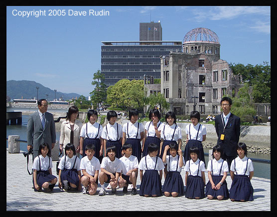 Group photo in front of the A-Bomb Dome