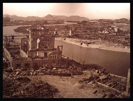 Hiroshima shortly after the blast