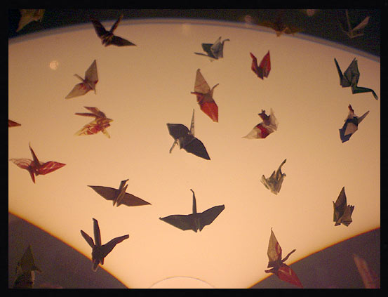 Paper cranes made by Sadako