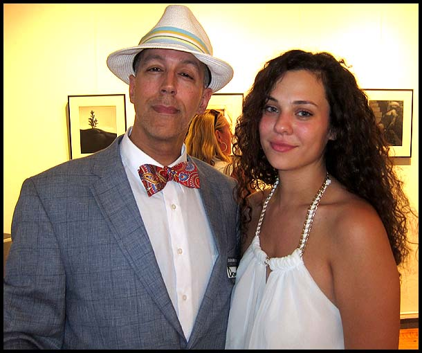 With Nadine at the Darkroom Gallery