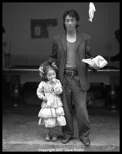 Man with Little Girl, Lhasa, Tibet, 2007