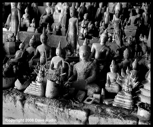Buddha Figures at the Pak Ou Caves, Laos, 2008