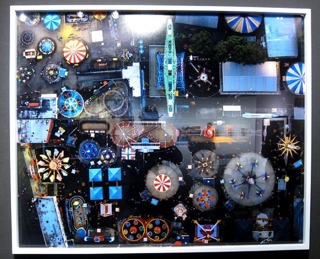 Jeffrey Milstein's aerial photograph of Coney Island at Kopeikin Gallery