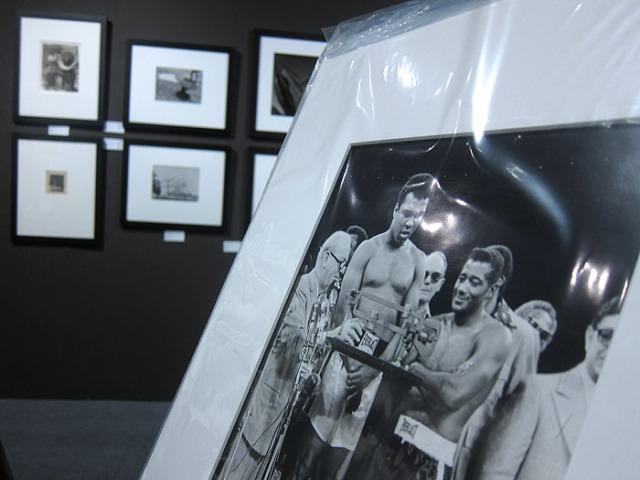 Ali Attar's photo of Muhammad Ali and Floyd Patterson at Throckmorton Fine Art