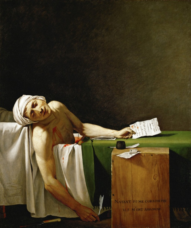 """The Death of Marat"" by David"