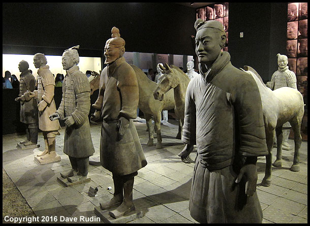 Terra Cotta Warriors in the Shaanxi Museum, Xian, 2016
