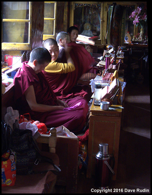 Monks, Palubuk Temple, Lhasa, Tibet, 2016
