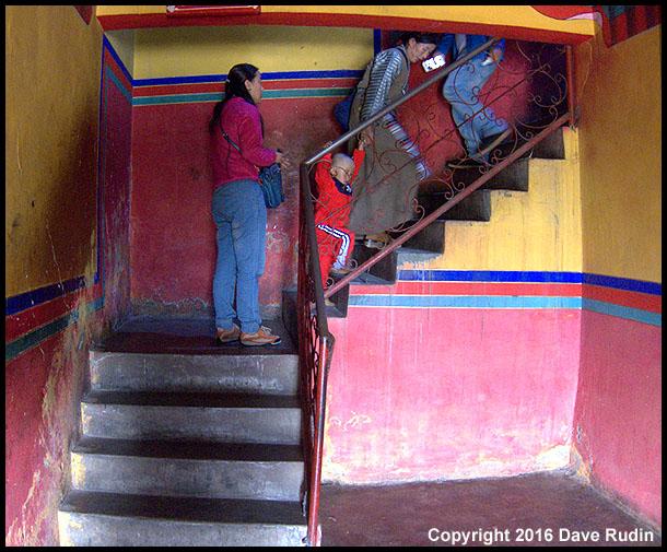 Stairs, Palubuk Temple, Lhasa, Tibet, 2016