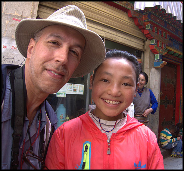 The author with the locals, Lhasa, Tibet,2016
