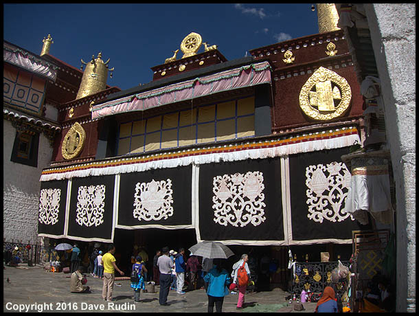 Exterior of the Jokhang Temple (Tibet's most sacred Buddhist shrine), Lhasa, Tibet, 2016