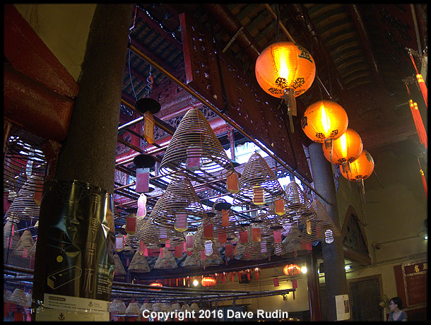 Interior, Man Mo Temple, Hong Kong, 2016