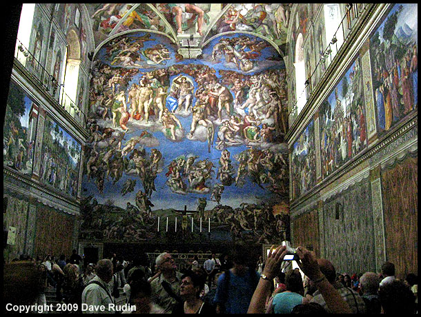 """The Last Judgement"" by Michelangelo in the Sistine Chapel"